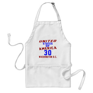 United States Of America 30  Washington D.C. Standard Apron