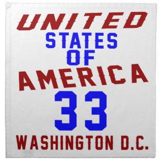 United States Of America 33 Washington D.C. Napkin