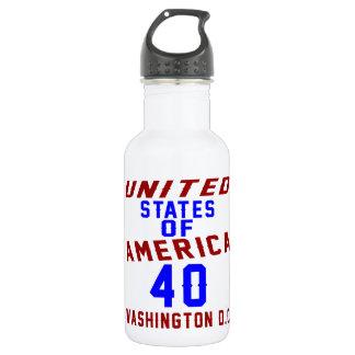 United States Of America 40 Washington D.C. 532 Ml Water Bottle