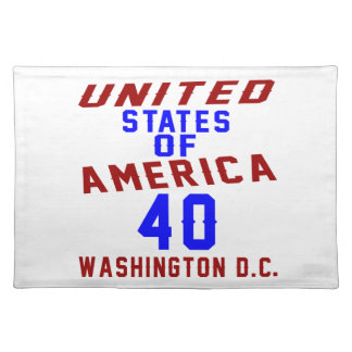 United States Of America 40 Washington D.C. Placemat