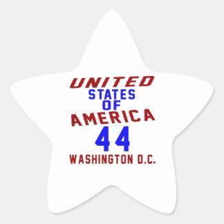United States Of America 44 Washington D.C. Star Sticker