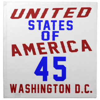 United States Of America 45 Washington D.C. Napkin