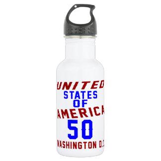 United States Of America 50 Washington D.C. 532 Ml Water Bottle