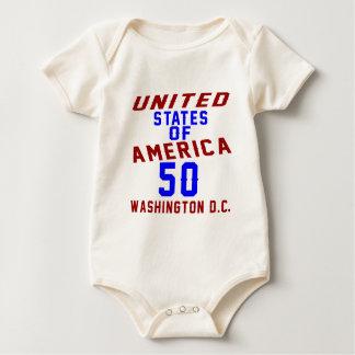 United States Of America 50 Washington D.C. Baby Bodysuit