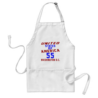 United States Of America 55 Washington D.C. Standard Apron