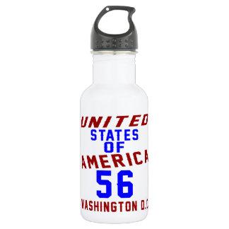 United States Of America 56 Washington D.C. 532 Ml Water Bottle