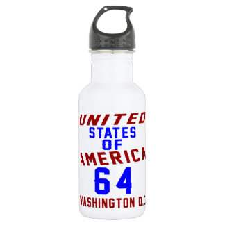 United States Of America 64 Washington D.C. 532 Ml Water Bottle