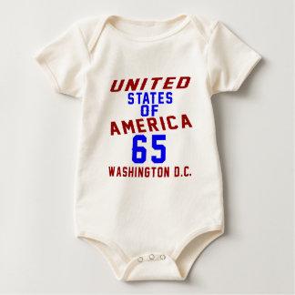 United States Of America 65 Washington D.C. Baby Bodysuit
