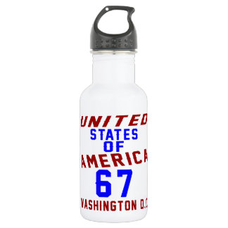 United States Of America 67 Washington D.C. 532 Ml Water Bottle