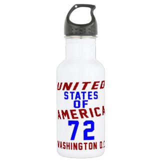 United States Of America 72 Washington D.C. 532 Ml Water Bottle