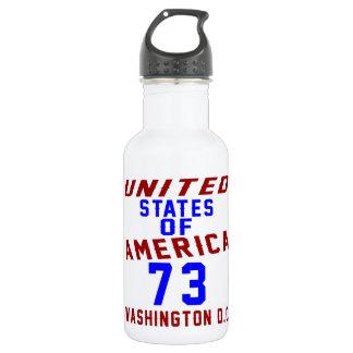 United States Of America 73 Washington D.C. 532 Ml Water Bottle