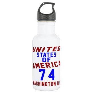 United States Of America 74 Washington D.C. 532 Ml Water Bottle