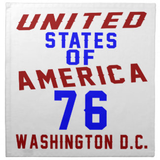 United States Of America 76 Washington D.C. Napkin