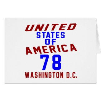 United States Of America 78 Washington D.C. Card