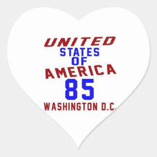 United States Of America 85 Washington D.C. Heart Sticker