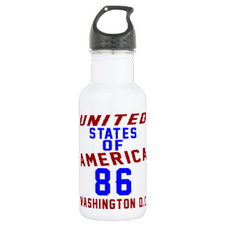 United States Of America 86 Washington D.C. 532 Ml Water Bottle