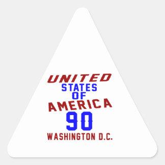 United States Of America 90 Washington D.C. Triangle Sticker