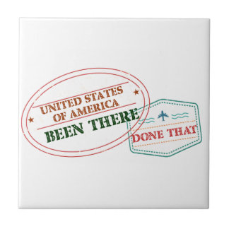 United States of America Been There Done That Ceramic Tile