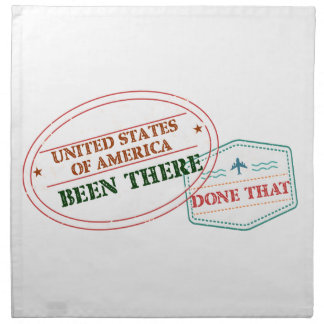 United States of America Been There Done That Napkin