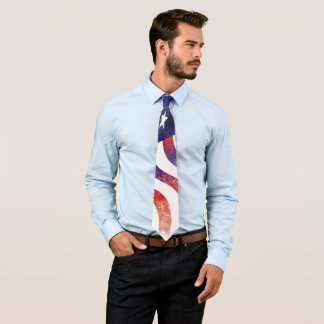 United States of America faded flag Tie