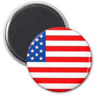 United States of America flag 6 Cm Round Magnet