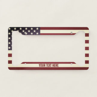 United States of America flag Licence Plate Frame