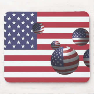 united states of america flag mouse pad