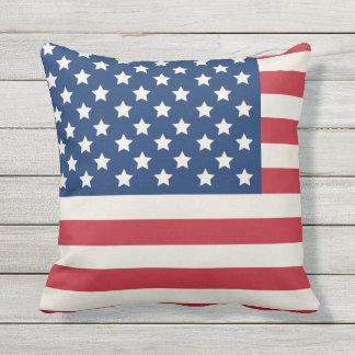 United States of America Flag | Patriotic Outdoor Cushion