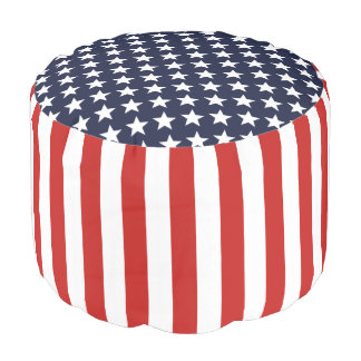 United States of America flag Pouf