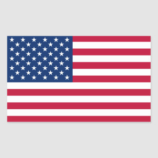 United States of America Flag Rectangular Sticker