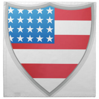 United States of America Flag Shield Napkins