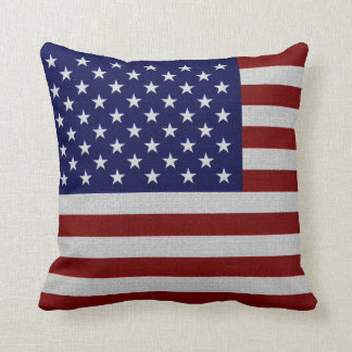 United States of America Flag Vintage Look Pillows