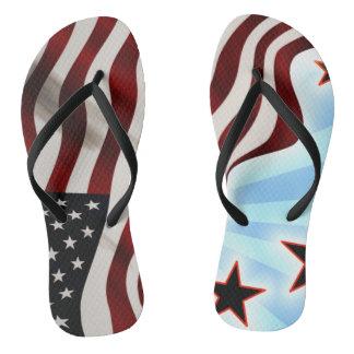 United States of America flag waving flag Thongs