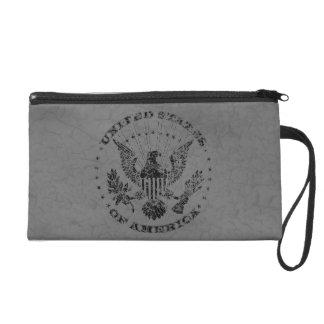 United States of America Grunge Wristlet