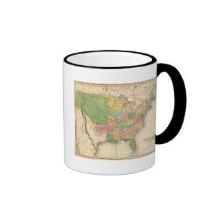 United States of America History Map Coffee Mugs