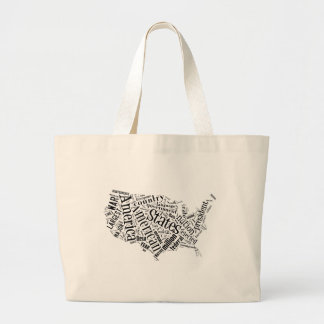 United States of America in Tagxedo Jumbo Tote Bag