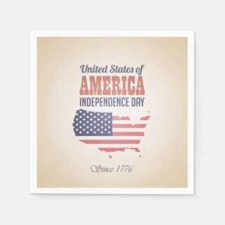 United States of America Independence Day Standard Cocktail Napkin