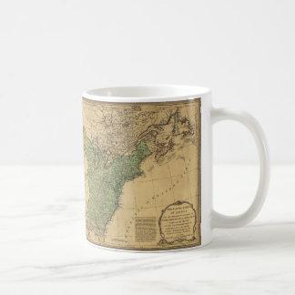 United States of America Map (1783) Basic White Mug