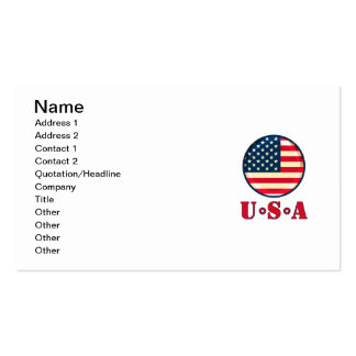 United States of America Pack Of Standard Business Cards