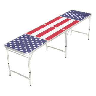 United States of America Patriotic Beer Pong Table