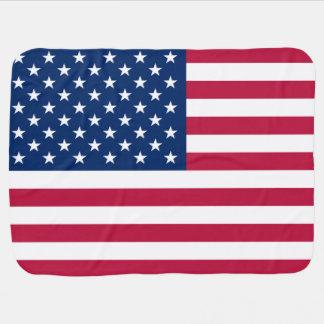 United States of America Patriotic Flag Baby Blanket