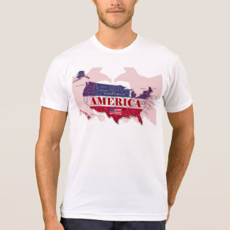 United States of America Red Bald Eagle T-Shirt
