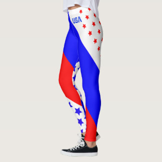 UNITED STATES OF AMERICA RED WHITE & BLUE USA LEGGINGS
