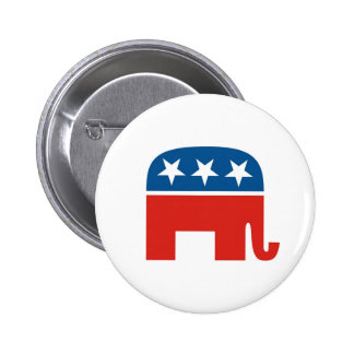 united states of america republican party elephant 6 cm round badge