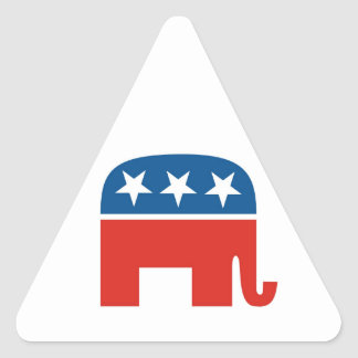 united states of america republican party elephant triangle sticker