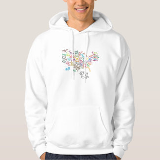 United States of America Script Text Map Hoodie