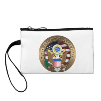 United States of America Seal - God Bless America Coin Purses
