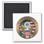 United States of America Seal - God Bless America Magnet