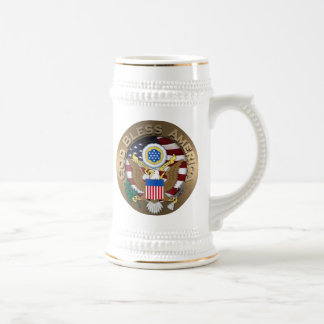United States of America Seal - God Bless America Beer Steins
