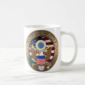 United States of America Seal - God Bless America Coffee Mugs